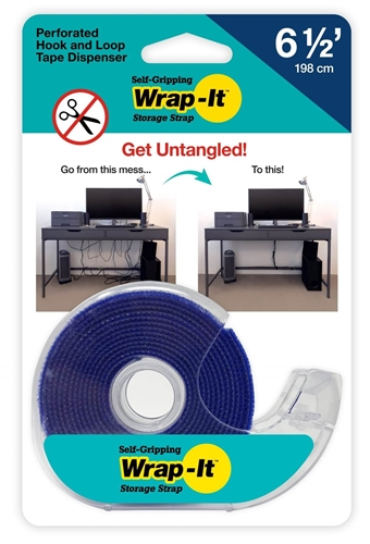 Wrap It 400-6NTD Self-Gripping Perforated Tape Roll - Blue