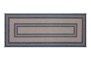 Reversible Patio Mats 502 8' X 20' Classic Border Black Patio Mat