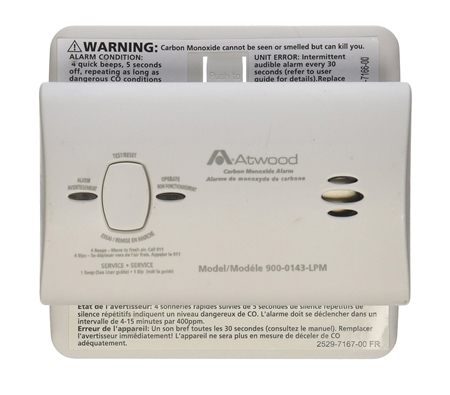 Atwood 32701 Non-Digital Carbon Monoxide Gas Alarm