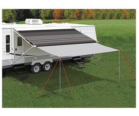 What is the height of the Carefree of Colorado 241600 canopy extension poles?